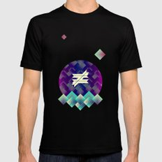 ≠. Black SMALL Mens Fitted Tee