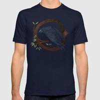 Raven  Mens Fitted Tee Navy SMALL