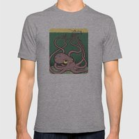 Evil Octopus Mens Fitted Tee Athletic Grey SMALL