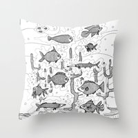 Diversity (underwater) Throw Pillow