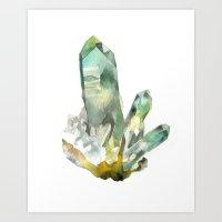 Fuchite Cluster Art Print