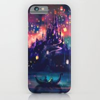 world map iPhone & iPod Cases featuring The Lights by Alice X. Zhang