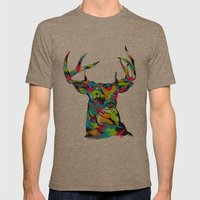 Buck Mens Fitted Tee Tri-Coffee SMALL