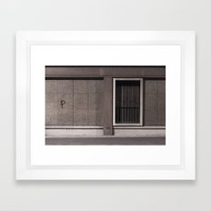 P Wall Framed Art Print