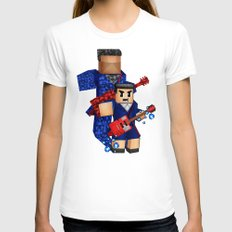 8bit boy with 12th doctor who shadow iPhone 4 4s 5 5c 6, pillow case, mugs and tshirt Womens Fitted Tee White SMALL