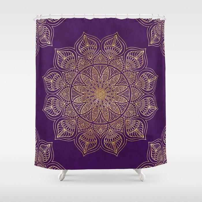 Gold Mandala Shower Curtain By Mantra Mandala