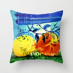 Organic Fruits Throw Pillow