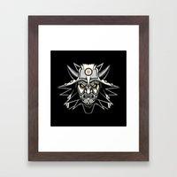 White Wolf Framed Art Print