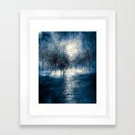 Paisaje Y Color (azul) Framed Art Print