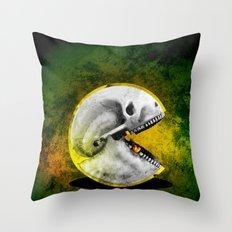 Skull Pacman Throw Pillow