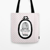 I Hate You / Picture Tote Bag