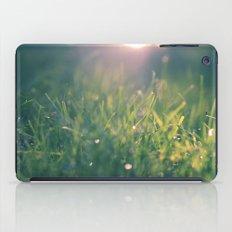 green gras bokeh 1b iPad Case