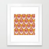SCORCH pattern [WHITE] Framed Art Print