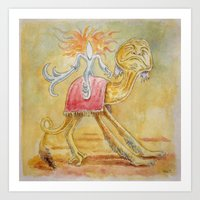 Atop My Desert Steed Art Print