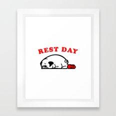 Rest Day Pug Framed Art Print