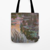 Water Lilies - Setting S… Tote Bag