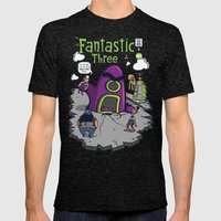 Fantastic Three Mens Fitted Tee Tri-Black SMALL