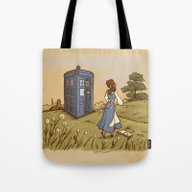 Tote Bag featuring Adventure In The Great W… by Karen Hallion Illust…