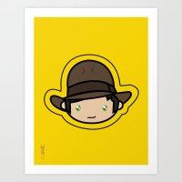 Indiana Jones Kawaii Art Print