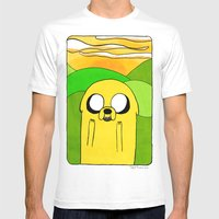 Jake The Dog Mens Fitted Tee White SMALL