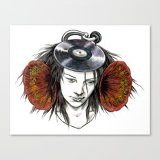 Record Head Canvas Print