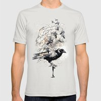 Crow's Soul Mens Fitted Tee Silver SMALL