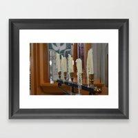Melted Candles Framed Art Print