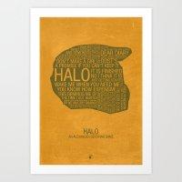 Halo Typography Art Print