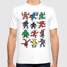 Keith Superheroes White SMALL Mens Fitted Tee