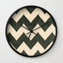 Vintage Vinyl - Black Chevron  Wall Clock