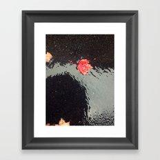 The Red Leaf Framed Art Print