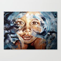 In my dreams, nothing fades away - WATERCOLOR & ACRYLIC painting Canvas Print