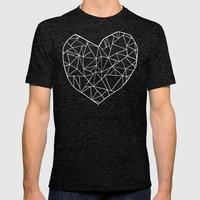 Abstract Heart   Mens Fitted Tee Tri-Black SMALL