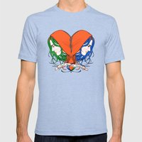 Clementine's Heart Mens Fitted Tee Tri-Blue SMALL