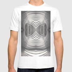 Paper Sculpture #9 Mens Fitted Tee White SMALL
