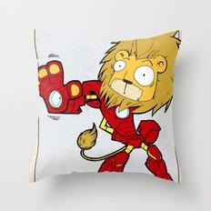IRON LION - FAN ART AVENGER IRON MAN Throw Pillow