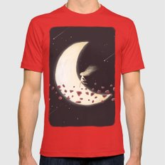 Lunar Child Mens Fitted Tee Red SMALL