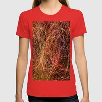 Lightpainting Womens Fitted Tee Red SMALL