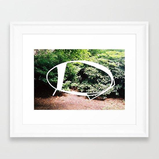 Elipse / Blossom Series Framed Art Print