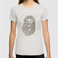 Lion Heart Womens Fitted Tee Silver SMALL