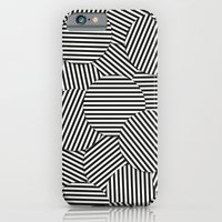 Striped Disc Pattern - Black and White iPhone 6 Slim Case