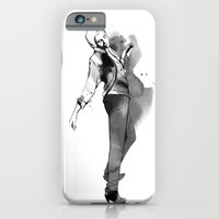 Fashion silhouette black and white - Ozie girl iPhone 6 Slim Case