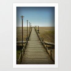 MY WAY TO THE SEA Art Print