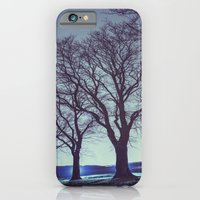 iPhone & iPod Case featuring Trees on the Hill by Shaun Lowe