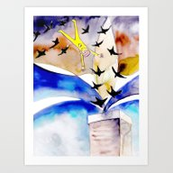 Diving With Chimney Swif… Art Print