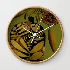 PATTERNED VASE Wall Clock
