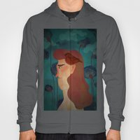 lady with bird Hoody