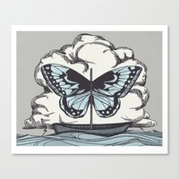 Butterfly Boat - We Are … Canvas Print
