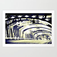 Through The Golden Bridge Art Print