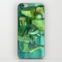 Still Life Study In Gree… iPhone & iPod Skin